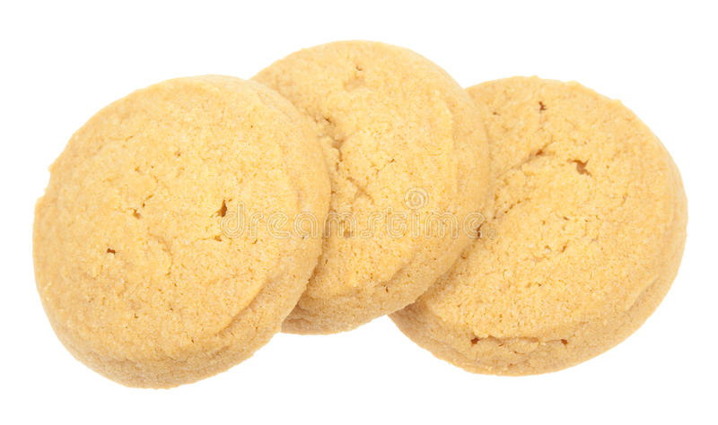 Μπισκότα που απομονώνονται βουτύρου στοκ φωτογραφίες με δικαίωμα ελεύθερης χρήσης