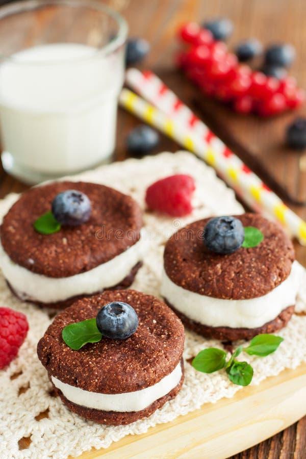 Μπισκότα σάντουιτς σοκολάτας στοκ εικόνα με δικαίωμα ελεύθερης χρήσης