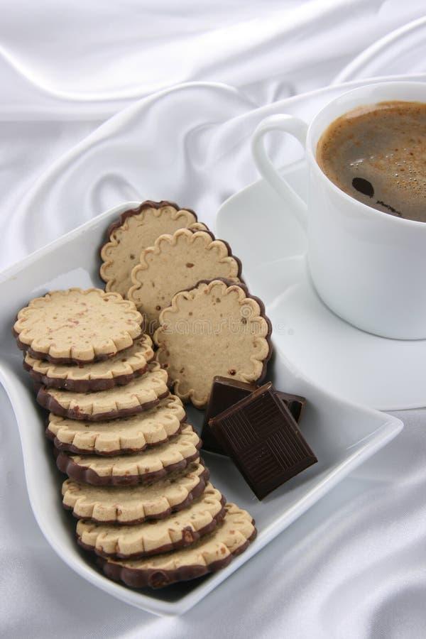 μπισκότα σοκολάτας καφέδων στοκ φωτογραφία με δικαίωμα ελεύθερης χρήσης