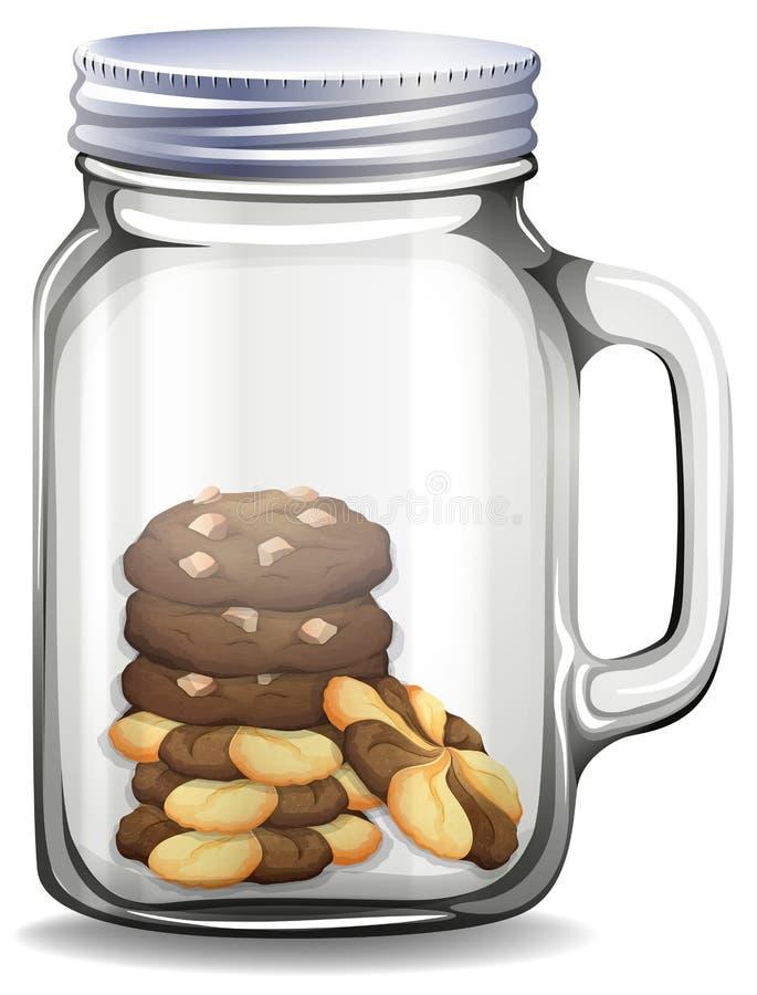 Μπισκότα στο βάζο γυαλιού ελεύθερη απεικόνιση δικαιώματος