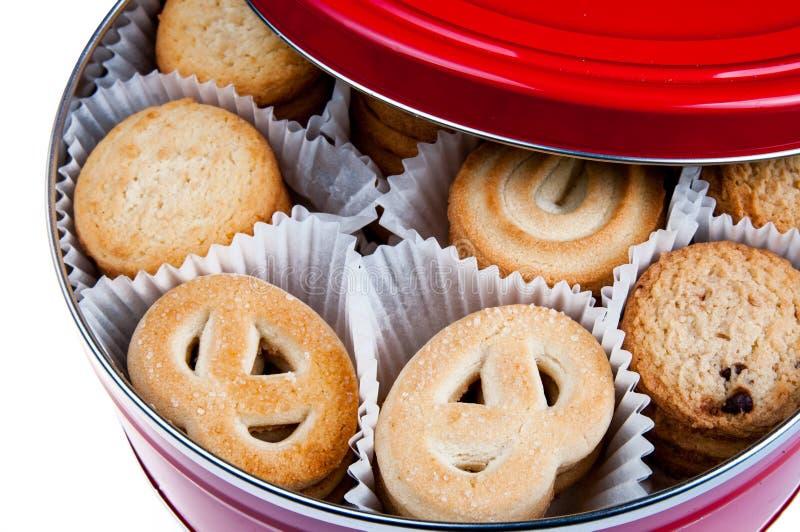 Μπισκότα στο κιβώτιο στοκ φωτογραφίες με δικαίωμα ελεύθερης χρήσης