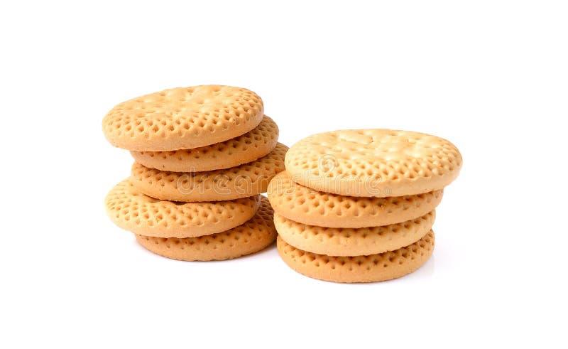 Μπισκότα, σωρός Α του εύγευστου σίτου γύρω από τα μπισκότα με μερικό γ στοκ εικόνα