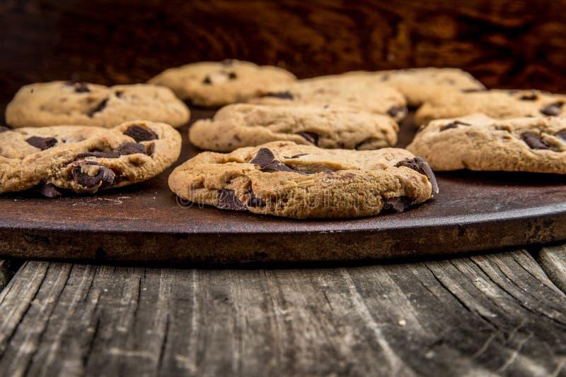 Μπισκότα τσιπ σοκολάτας στοκ εικόνα με δικαίωμα ελεύθερης χρήσης