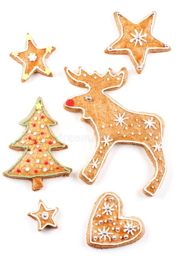 Μπισκότα Χριστουγέννων μελοψωμάτων στοκ φωτογραφία με δικαίωμα ελεύθερης χρήσης