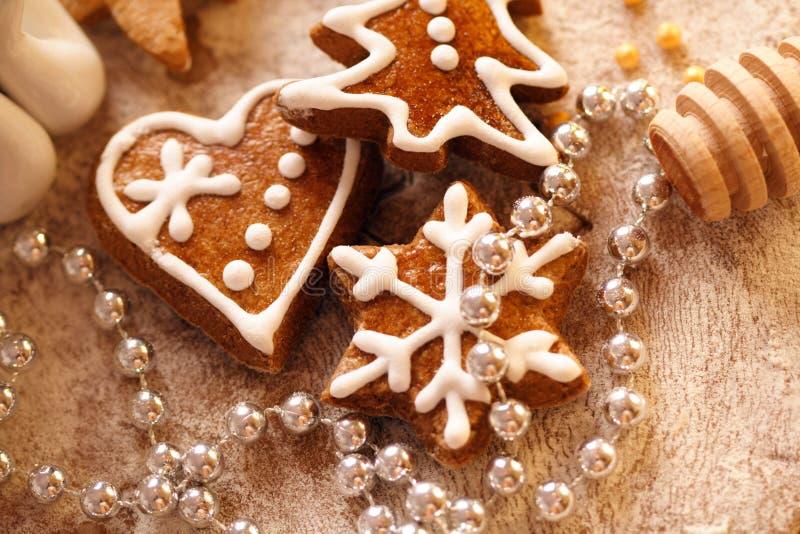 μπισκότα Χριστουγέννων ψη&sig στοκ φωτογραφία με δικαίωμα ελεύθερης χρήσης