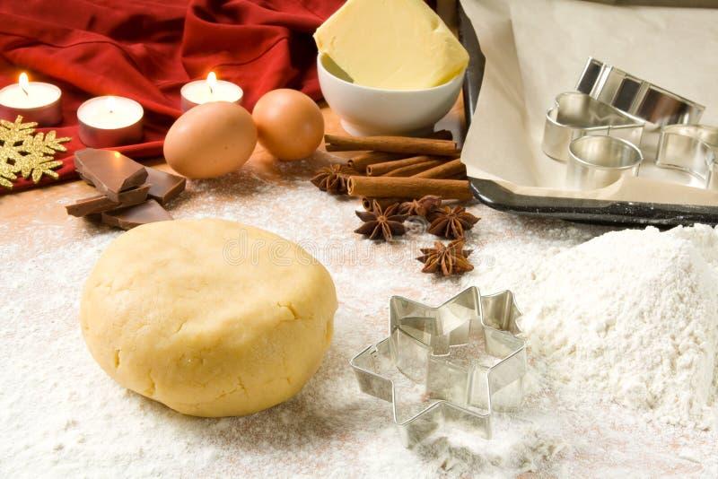 μπισκότα Χριστουγέννων ψη&sig στοκ εικόνα