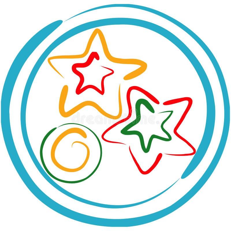μπισκότα Χριστουγέννων lineart διανυσματική απεικόνιση