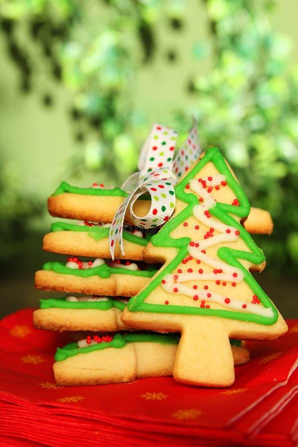 Μπισκότα χριστουγεννιάτικων δέντρων στοκ εικόνες με δικαίωμα ελεύθερης χρήσης