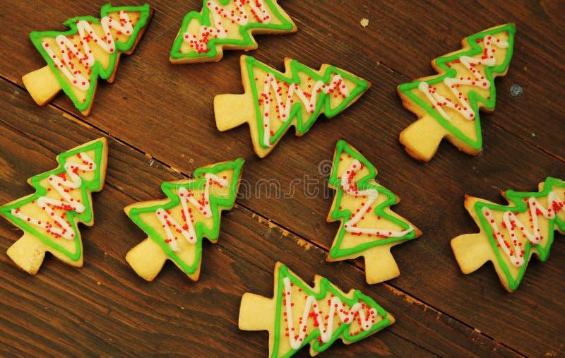 Μπισκότα χριστουγεννιάτικων δέντρων στοκ φωτογραφία με δικαίωμα ελεύθερης χρήσης