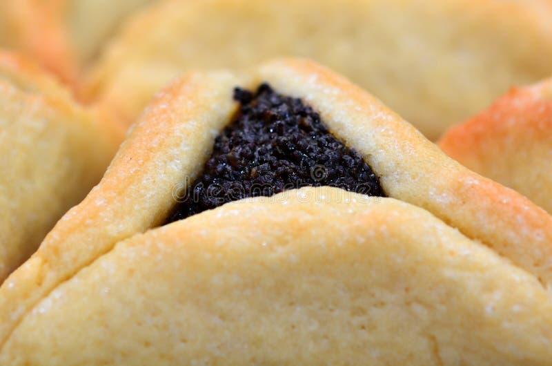 Μπισκότα Ozen Haman Purim Hamentashen στοκ φωτογραφία με δικαίωμα ελεύθερης χρήσης