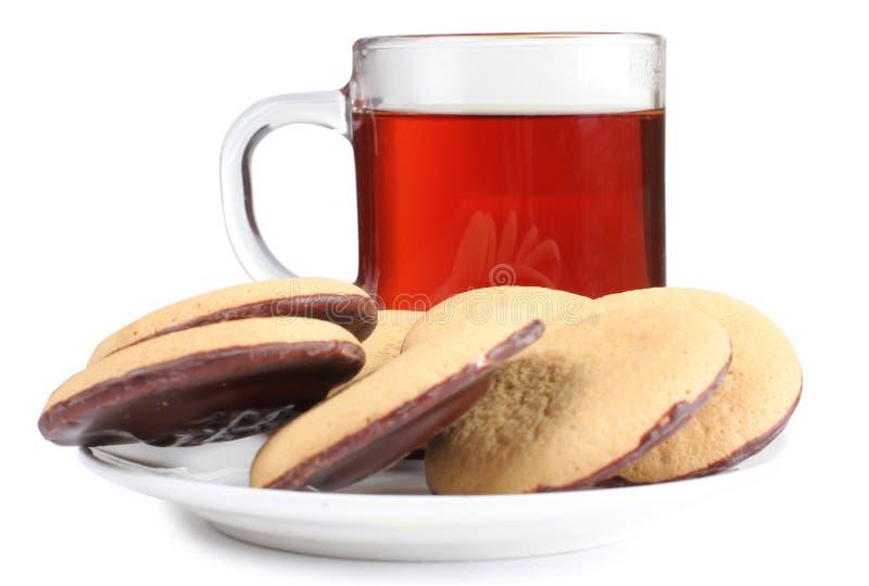 Μπισκότο και τσάι τέσσερα στοκ φωτογραφίες