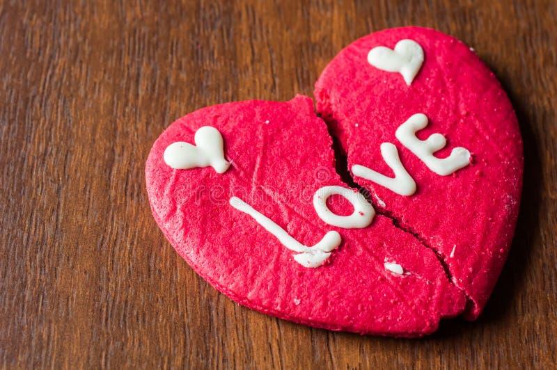 Μπισκότο καρδιών Brocken στοκ φωτογραφίες με δικαίωμα ελεύθερης χρήσης