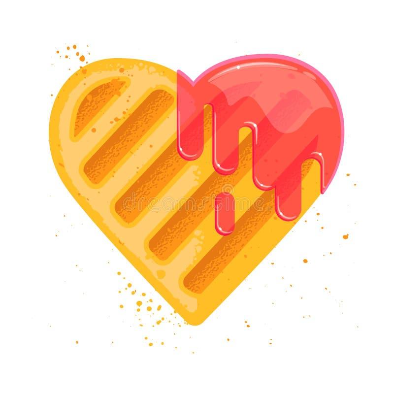 Μπισκότο μορφής καρδιών με τα ραβδιά μαρμελάδας απεικόνιση αποθεμάτων