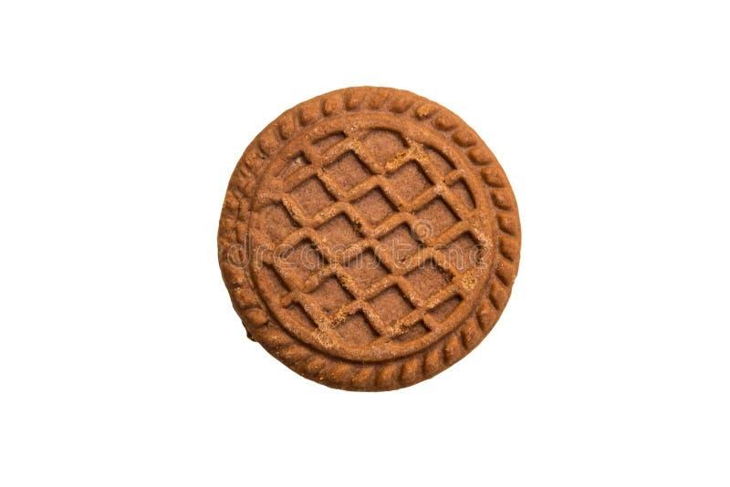 Μπισκότο σοκολάτας με την πλήρωση κρέμας που απομονώνεται στο λευκό στοκ φωτογραφία με δικαίωμα ελεύθερης χρήσης