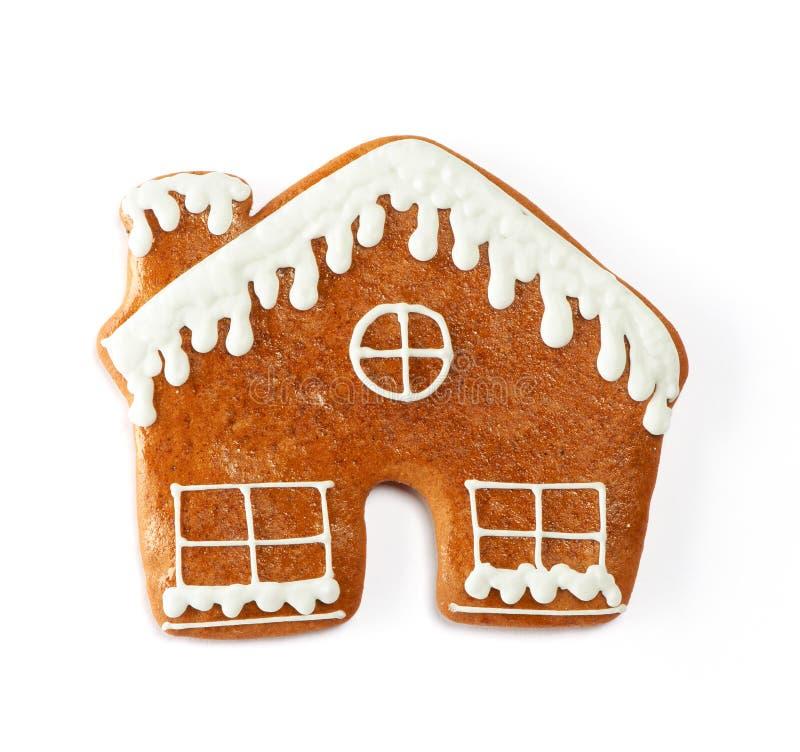 Μπισκότο σπιτιών μελοψωμάτων Χριστουγέννων στοκ εικόνα