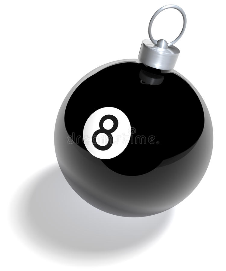 Μπιλιάρδο οκτώ Χριστουγέννων σφαίρα απεικόνιση αποθεμάτων
