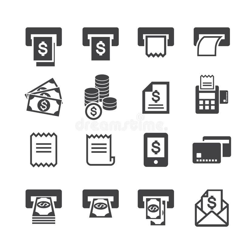 Μπιλ και εικονίδιο χρημάτων απεικόνιση αποθεμάτων