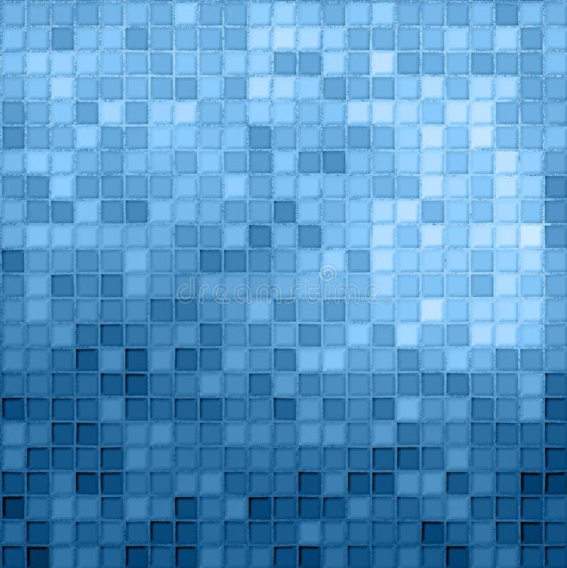 μπλε άνευ ραφής μικρά κεραμίδια απεικόνιση αποθεμάτων