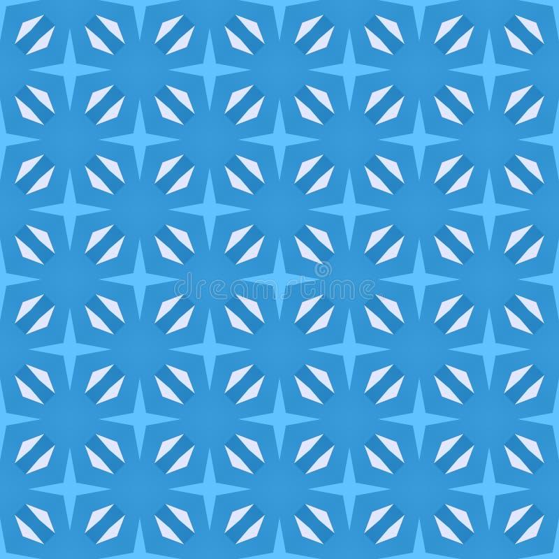Μπλε άνευ ραφής σχέδιο για την εκτύπωση στο ύφασμα Απλό γεωμετρικό υπόβαθρο Ελάχιστο σχέδιο, παραδοσιακό ύφος κεραμιδιών διανυσματική απεικόνιση