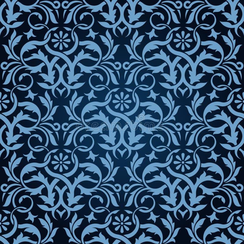 Download μπλε άνευ ραφής ταπετσαρί&al Διανυσματική απεικόνιση - εικονογραφία από βασιλικός, σύσταση: 13183216