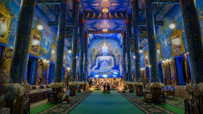 Μπλε άποψη νύχτας ναών στοκ εικόνα με δικαίωμα ελεύθερης χρήσης