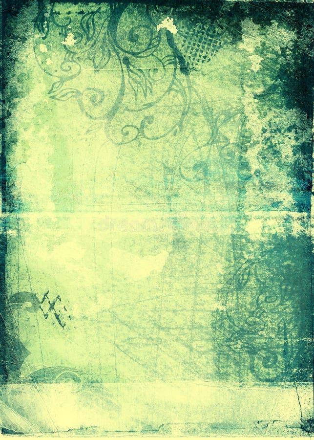 μπλε έγγραφο grunge κίτρινο διανυσματική απεικόνιση
