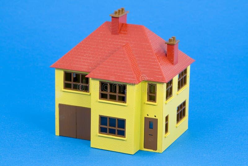 μπλε έκδοση σπιτιών σχεδιαγραμμάτων στοκ εικόνες