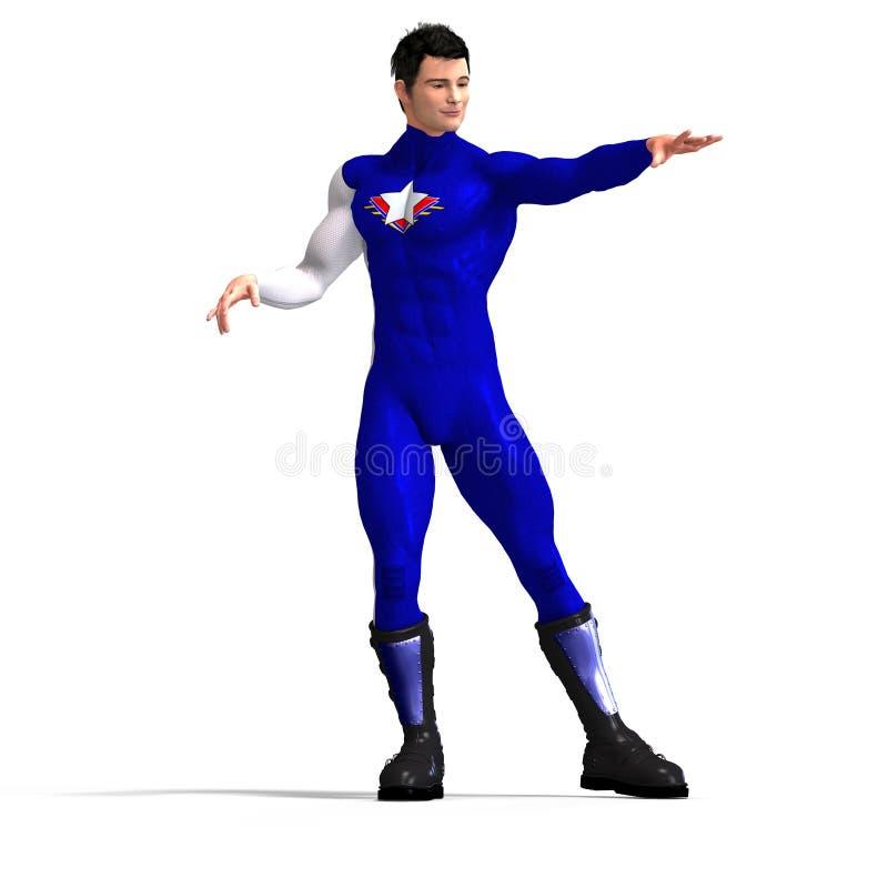μπλε ήρωας έξοχος ελεύθερη απεικόνιση δικαιώματος