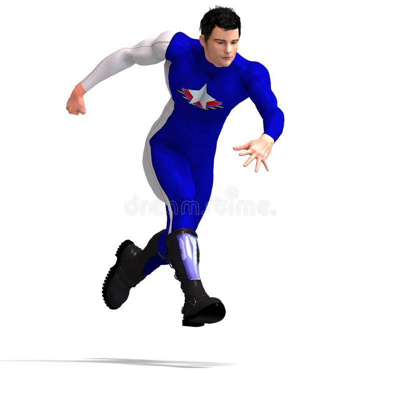 μπλε ήρωας έξοχος απεικόνιση αποθεμάτων