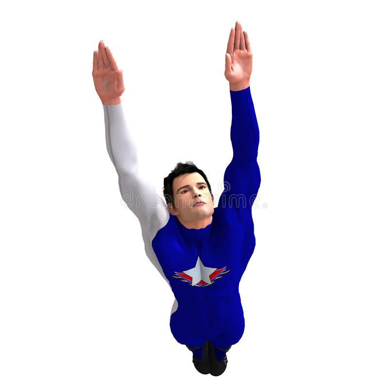 μπλε ήρωας που σώζει τον έ&x απεικόνιση αποθεμάτων