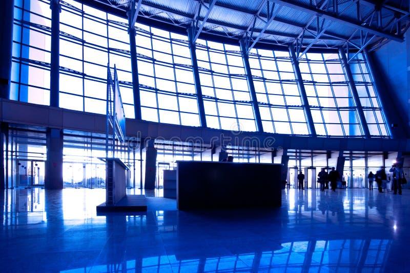 μπλε αίθουσα ευρέως στοκ φωτογραφία