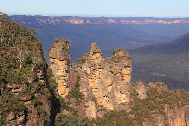 μπλε αδελφές τρία βουνών στοκ εικόνες