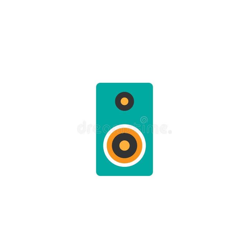 Μπλε ακουστικός δυνατός ομιλητής που απομονώνεται στο άσπρο υπόβαθρο Επίπεδο όγκου Επίπεδη απλή διανυσματική απεικόνιση διανυσματική απεικόνιση