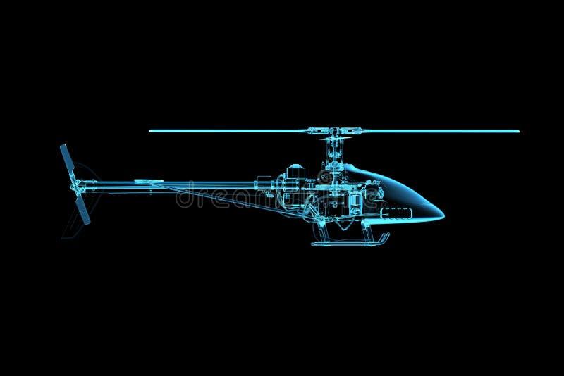 μπλε ακτίνα ελικοπτέρων π&o διανυσματική απεικόνιση