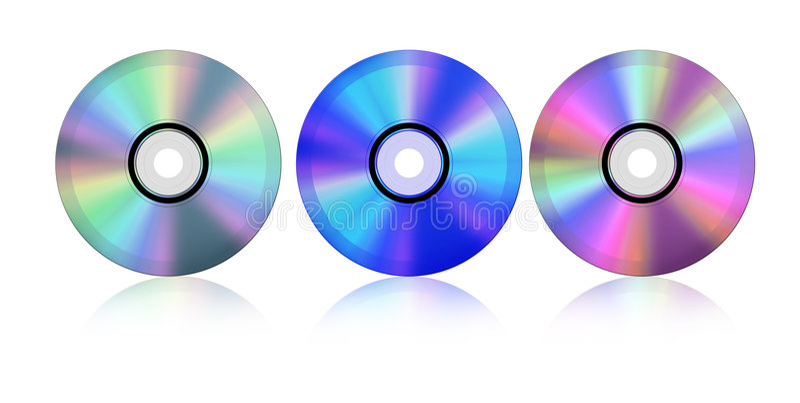 μπλε ακτίνα Cd διανυσματική απεικόνιση
