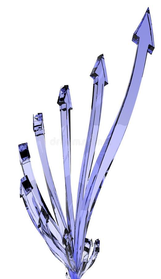 μπλε ανάπτυξη γυαλιού βε& απεικόνιση αποθεμάτων