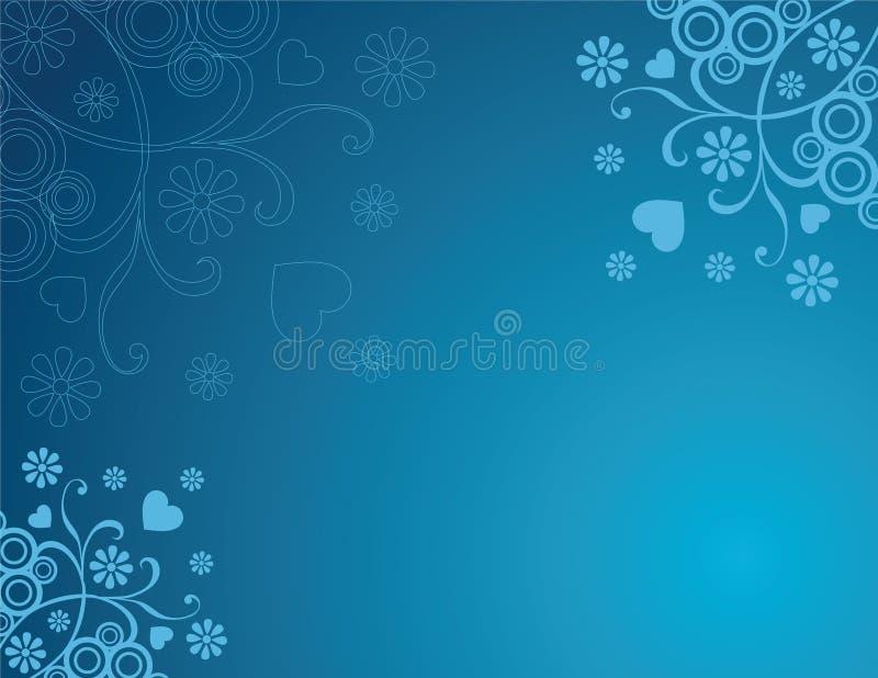 μπλε αναδρομικός ανασκόπ& διανυσματική απεικόνιση