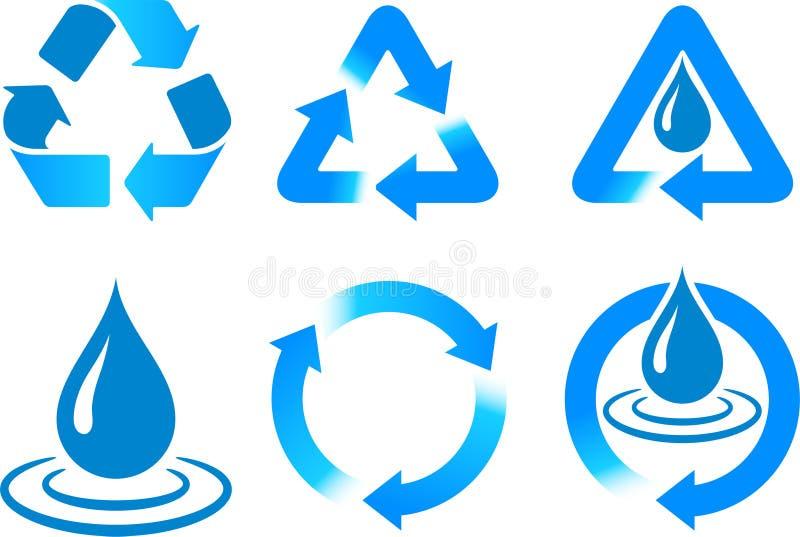 μπλε ανακύκλωση απεικόνιση αποθεμάτων