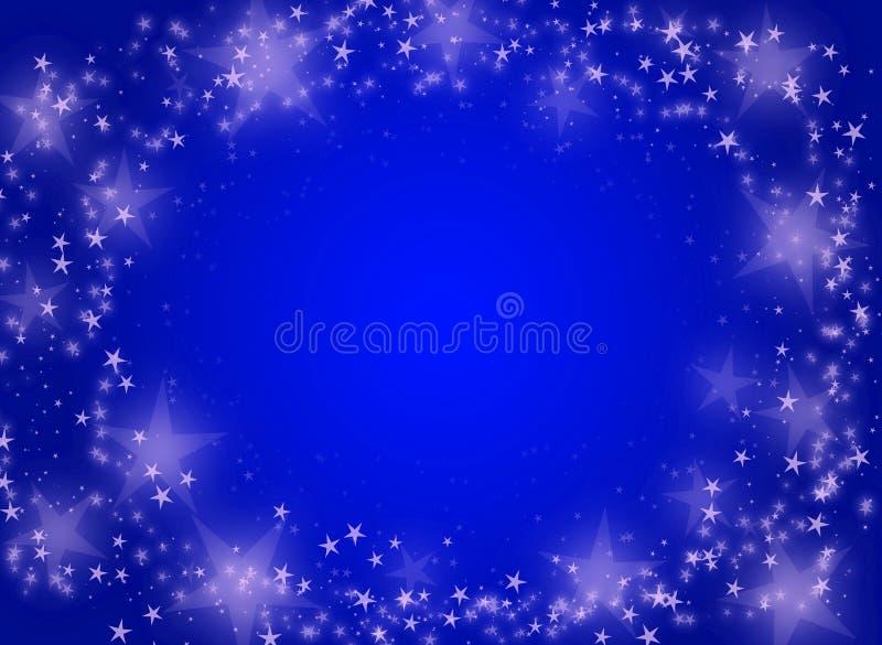 Μπλε ανασκόπηση με τα αστέρια διανυσματική απεικόνιση