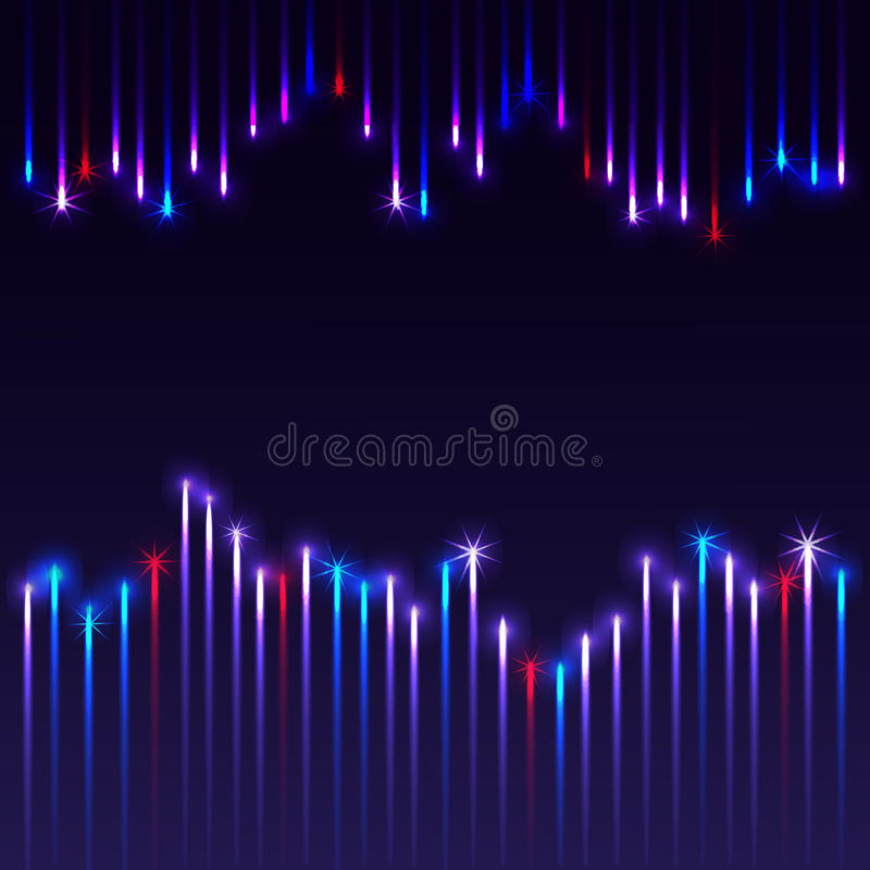 Μπλε ανασκόπηση με τα πυροτεχνήματα απεικόνιση αποθεμάτων