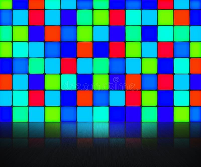 Μπλε ανασκόπηση τοίχων Disco ελεύθερη απεικόνιση δικαιώματος
