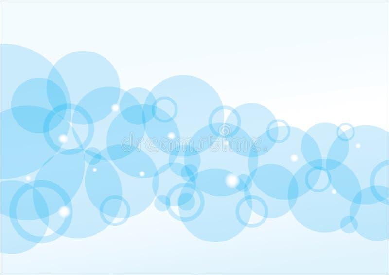 Μπλε ανασκόπηση φυσαλίδων απεικόνιση αποθεμάτων