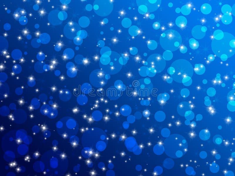 Μπλε ανασκόπηση φω'των διανυσματική απεικόνιση