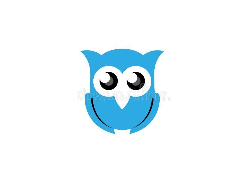 Μπλε ανοικτά μάτια κουκουβαγιών για το λογότυπο ελεύθερη απεικόνιση δικαιώματος