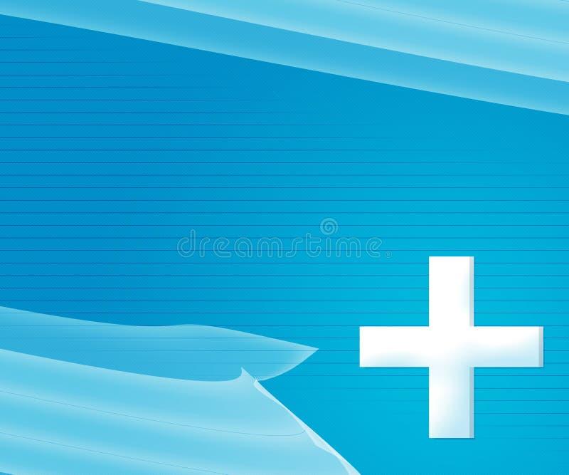 Μπλε απλή ιατρική ανασκόπηση διανυσματική απεικόνιση