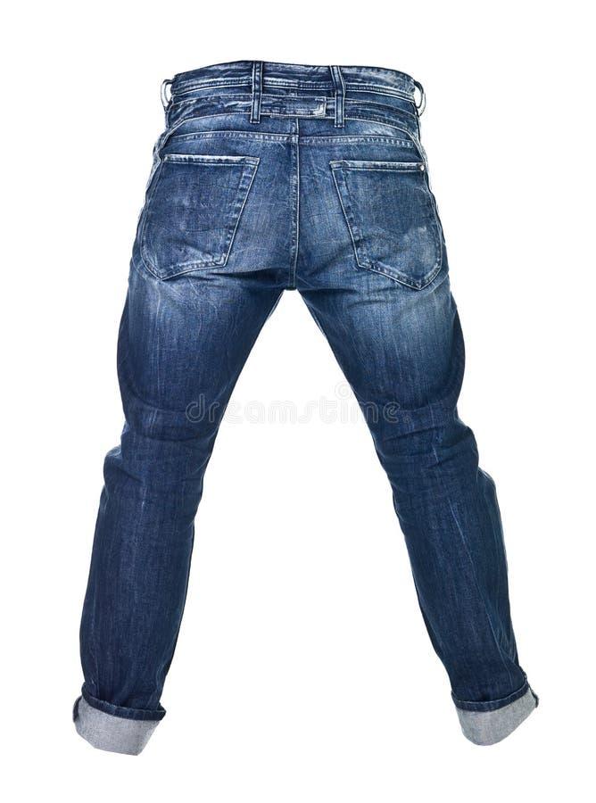 μπλε απομονωμένα τζιν πο&upsilon στοκ φωτογραφία με δικαίωμα ελεύθερης χρήσης