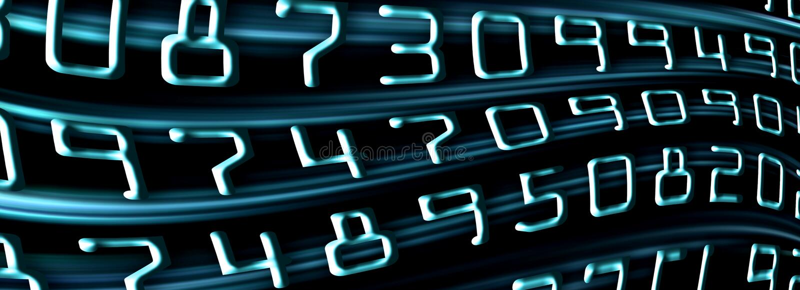 μπλε αριθμοί απεικόνιση αποθεμάτων