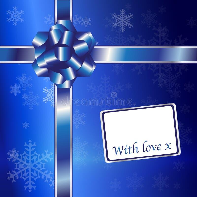 μπλε ασήμι δώρων Χριστουγ απεικόνιση αποθεμάτων