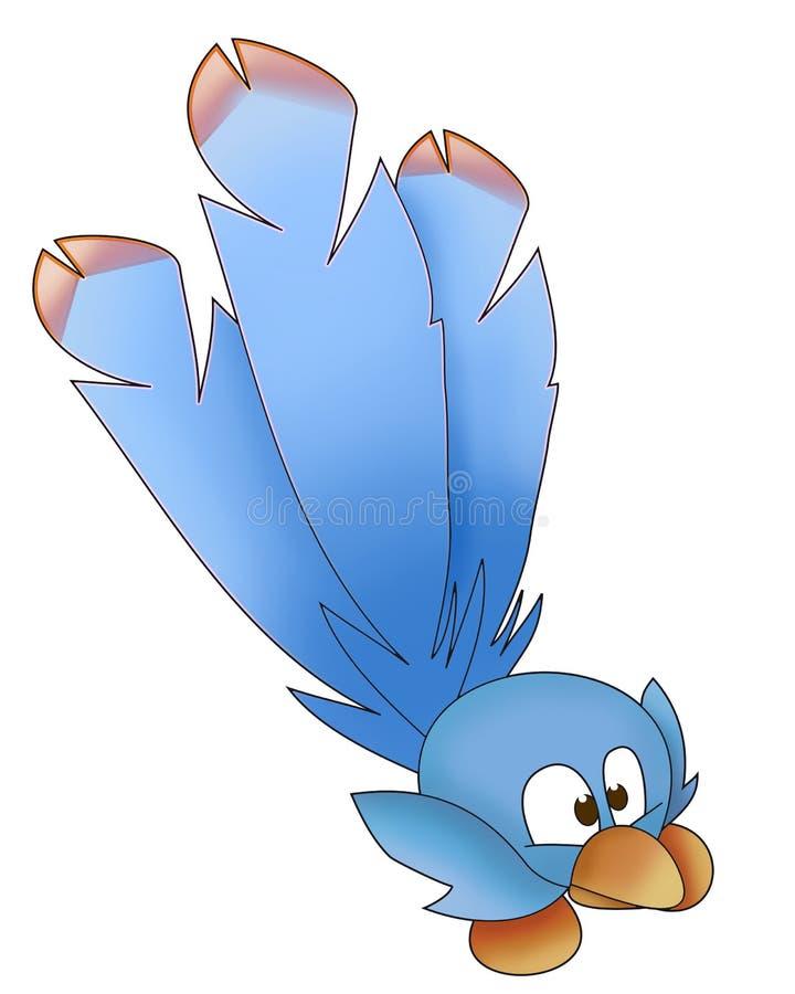 μπλε αστείος πουλιών διανυσματική απεικόνιση