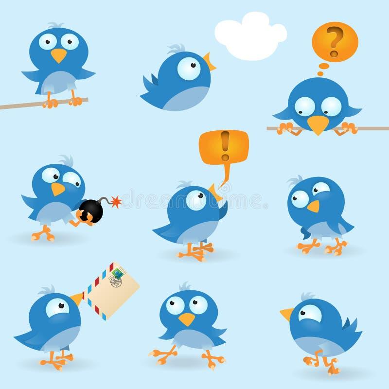 μπλε αστείος πουλιών ελεύθερη απεικόνιση δικαιώματος
